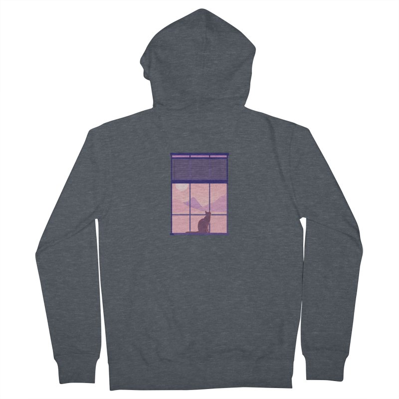 Cat Men's French Terry Zip-Up Hoody by theladyernestember's Artist Shop