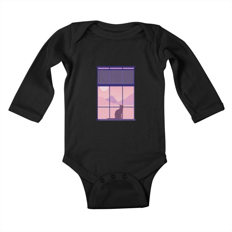 Cat Kids Baby Longsleeve Bodysuit by theladyernestember's Artist Shop