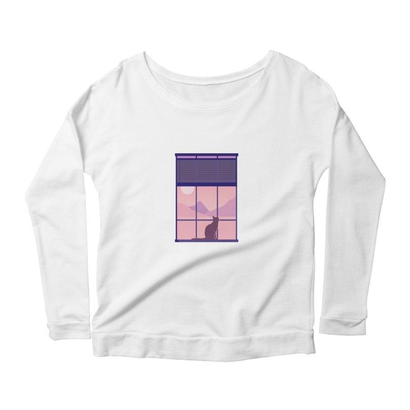 Cat Women's Scoop Neck Longsleeve T-Shirt by theladyernestember's Artist Shop