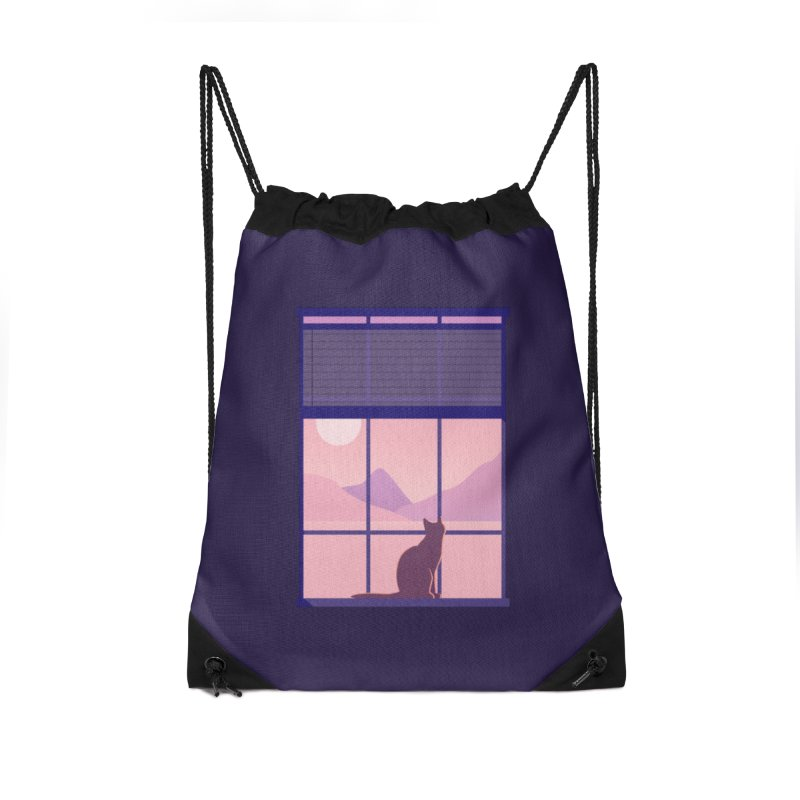 Cat Accessories Drawstring Bag Bag by theladyernestember's Artist Shop