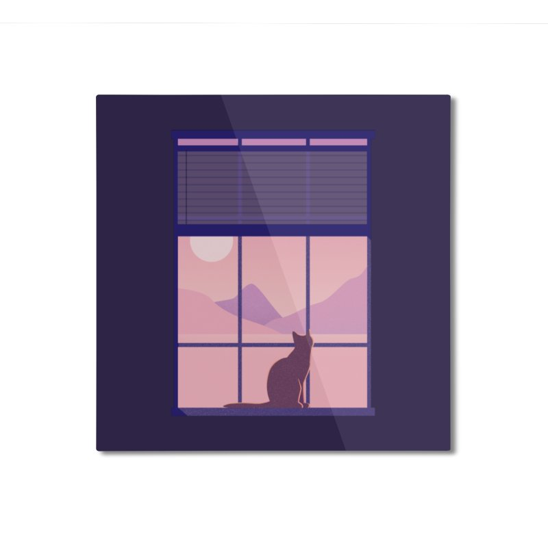Cat Home Mounted Aluminum Print by theladyernestember's Artist Shop