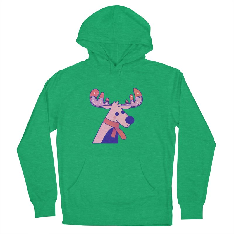 Reindeer Men's French Terry Pullover Hoody by theladyernestember's Artist Shop
