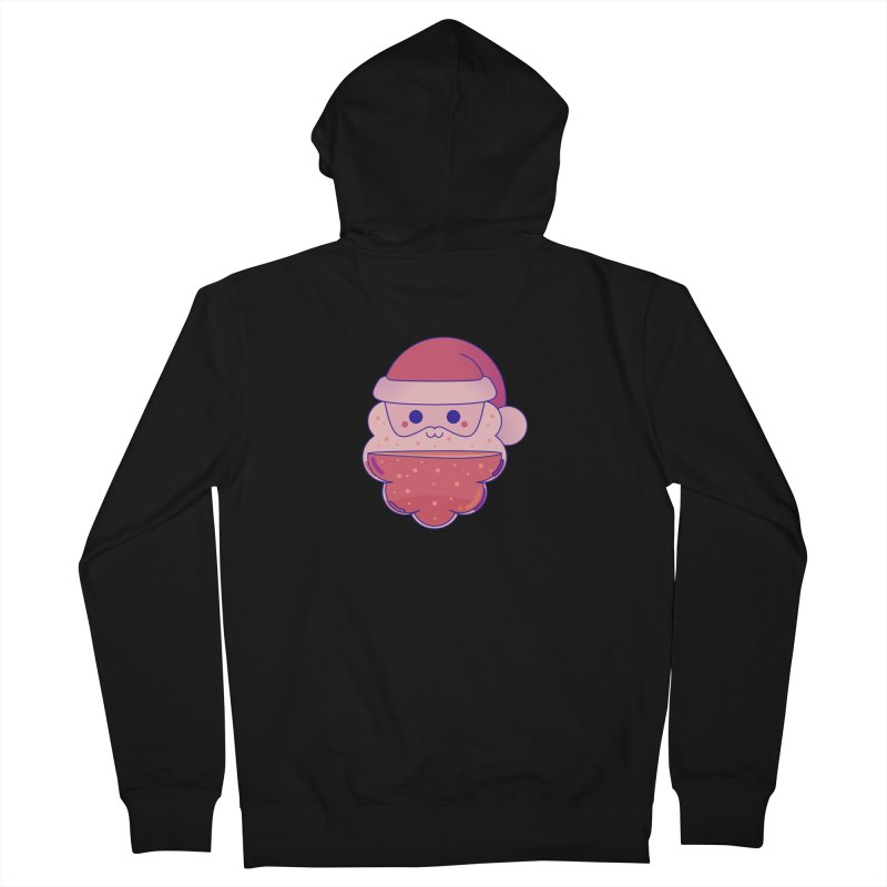 Santa Claus Men's French Terry Zip-Up Hoody by theladyernestember's Artist Shop