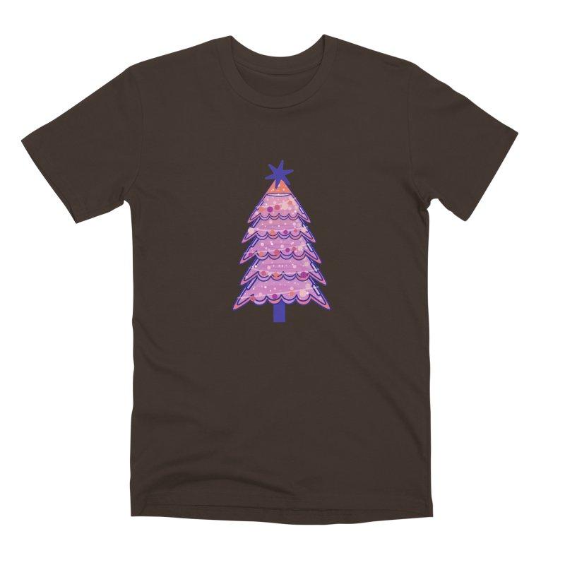 Christmas Tree Men's Premium T-Shirt by theladyernestember's Artist Shop
