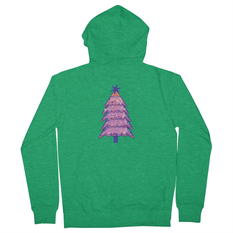 Christmas Tree Men's French Terry Zip-Up Hoody by theladyernestember's Artist Shop