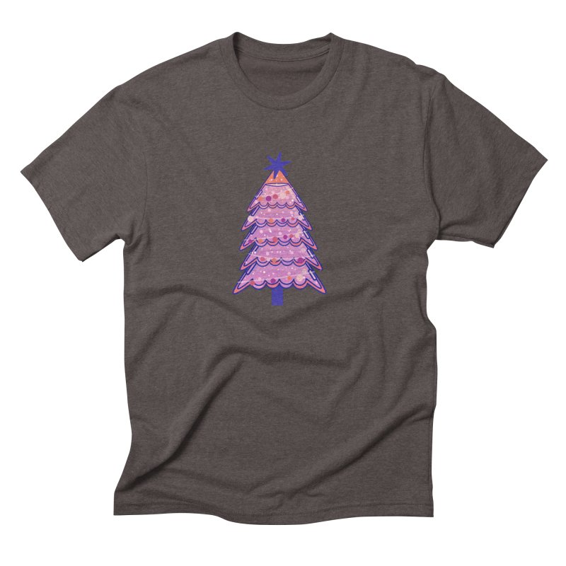 Christmas Tree Men's Triblend T-Shirt by theladyernestember's Artist Shop