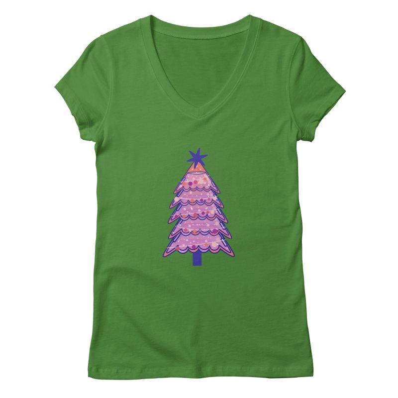 Christmas Tree Women's Regular V-Neck by theladyernestember's Artist Shop