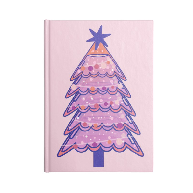 Christmas Tree Accessories Blank Journal Notebook by theladyernestember's Artist Shop