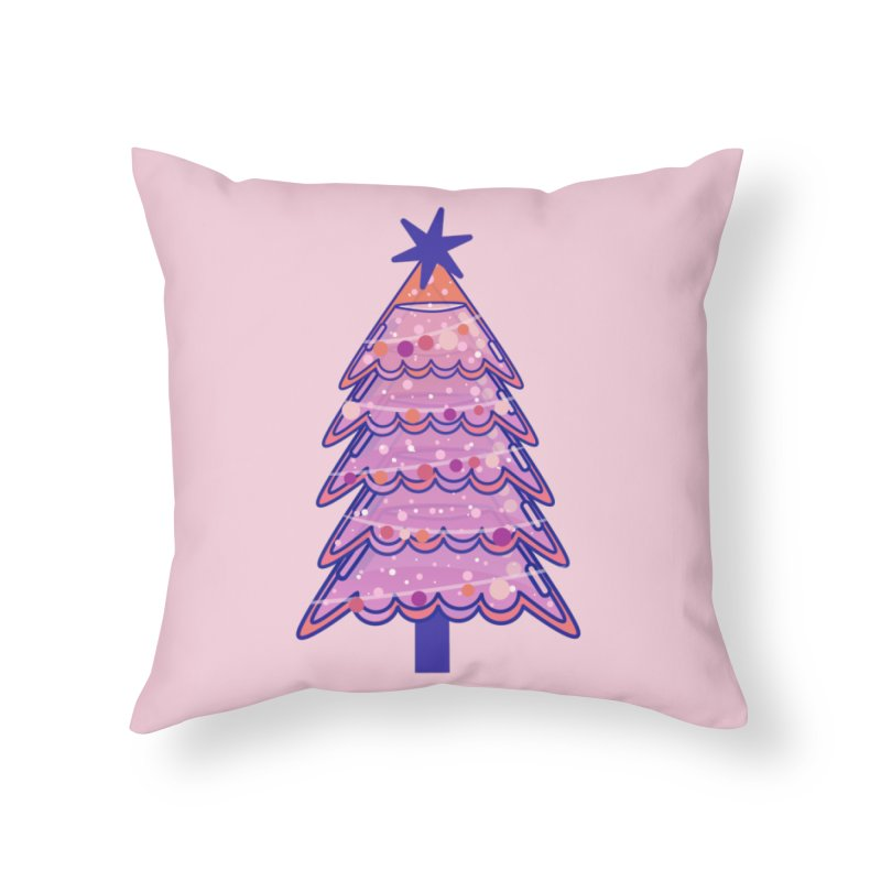 Christmas Tree Home Throw Pillow by theladyernestember's Artist Shop