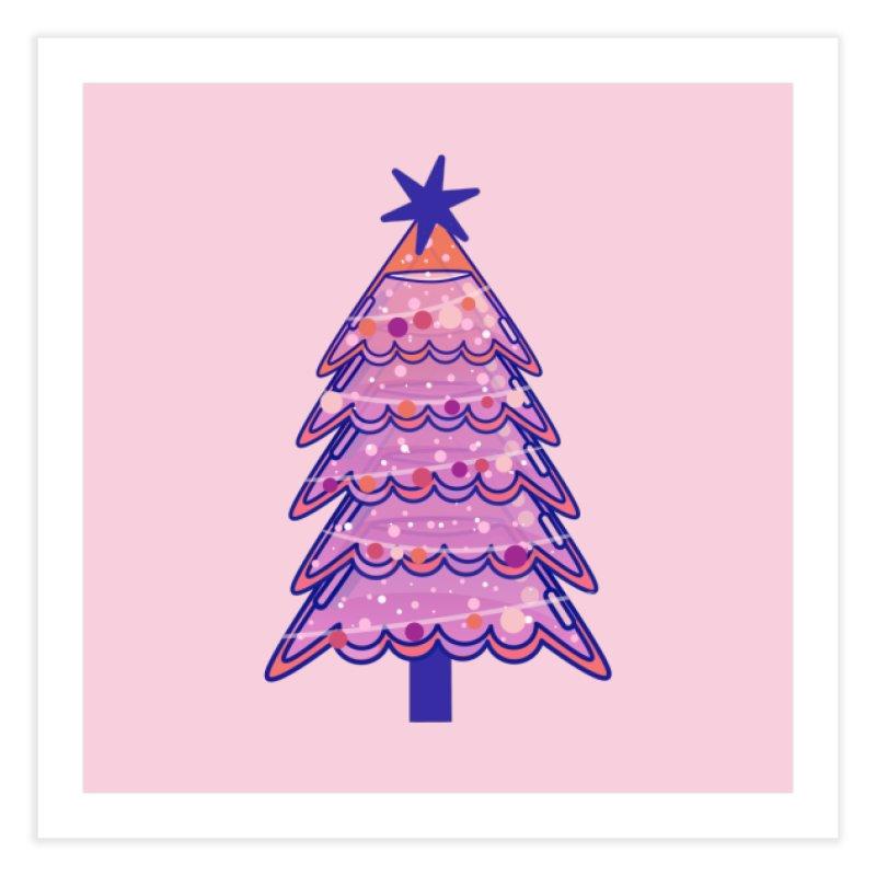 Christmas Tree Home Fine Art Print by theladyernestember's Artist Shop