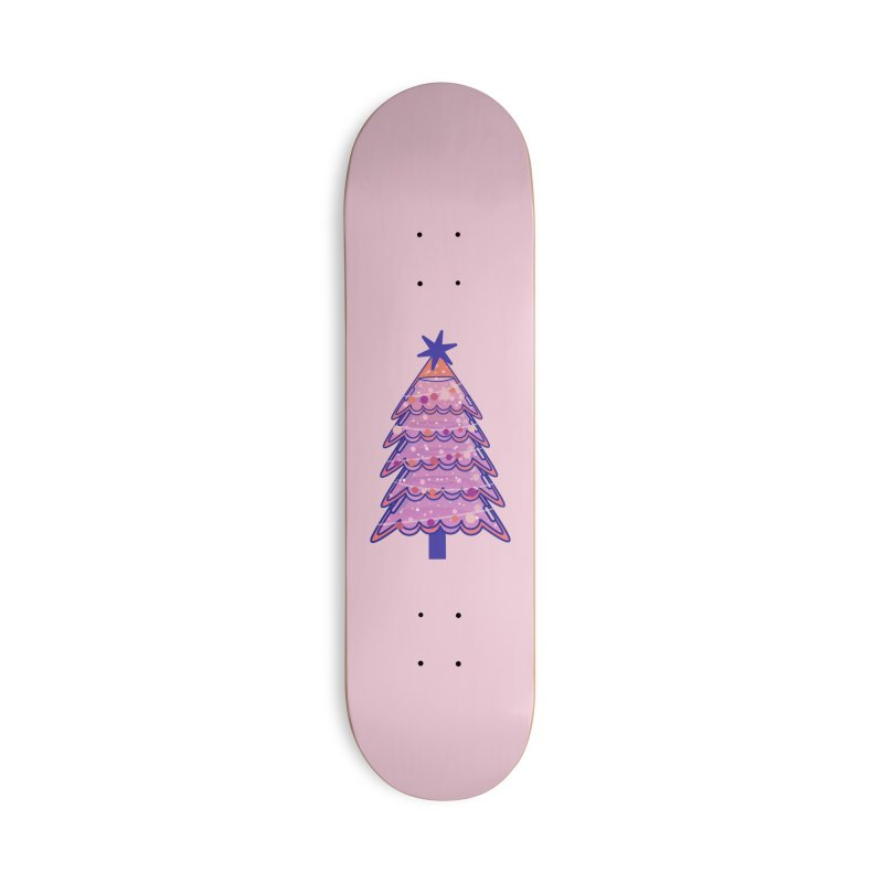 Christmas Tree Accessories Deck Only Skateboard by theladyernestember's Artist Shop