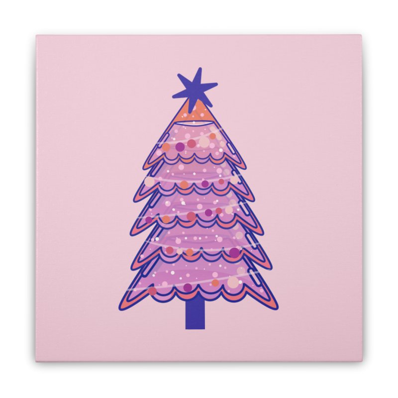 Christmas Tree Home Stretched Canvas by theladyernestember's Artist Shop
