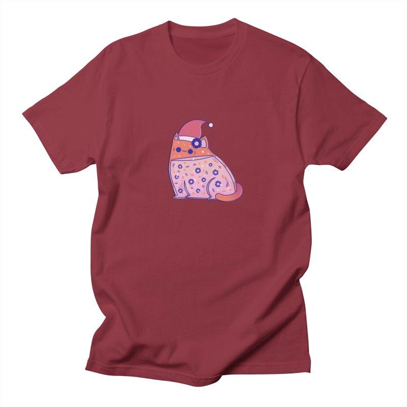 Christmas Cat Men's Regular T-Shirt by theladyernestember's Artist Shop