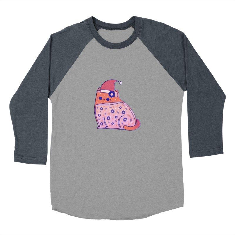 Christmas Cat Women's Baseball Triblend Longsleeve T-Shirt by theladyernestember's Artist Shop