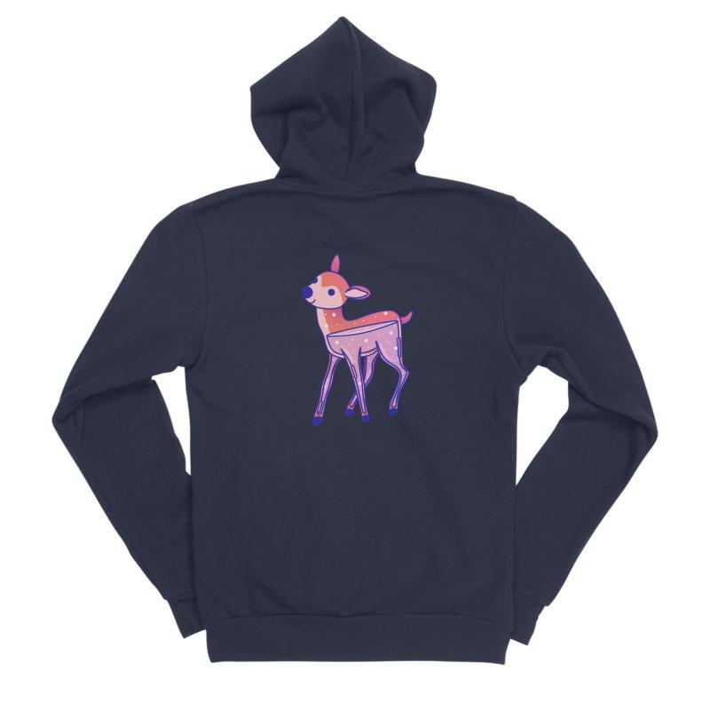 Deer Women's Sponge Fleece Zip-Up Hoody by theladyernestember's Artist Shop