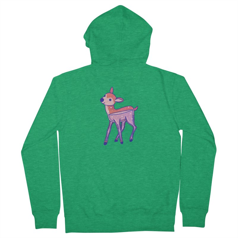 Deer Women's French Terry Zip-Up Hoody by theladyernestember's Artist Shop