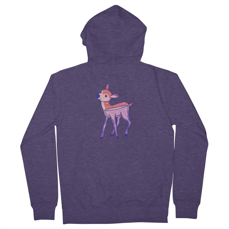 Deer Men's French Terry Zip-Up Hoody by theladyernestember's Artist Shop