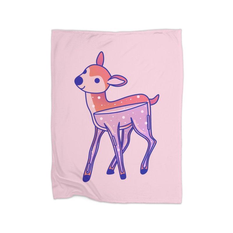 Deer Home Fleece Blanket Blanket by theladyernestember's Artist Shop