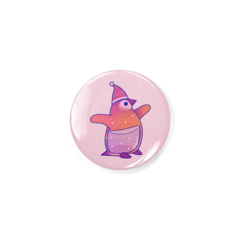 Christmas Penguin Accessories Button by theladyernestember's Artist Shop