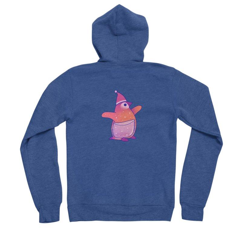 Christmas Penguin Women's Sponge Fleece Zip-Up Hoody by theladyernestember's Artist Shop