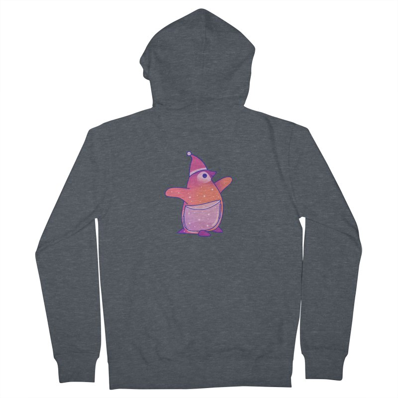 Christmas Penguin Men's French Terry Zip-Up Hoody by theladyernestember's Artist Shop