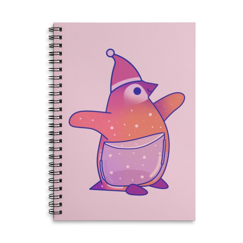 Christmas Penguin Accessories Lined Spiral Notebook by theladyernestember's Artist Shop