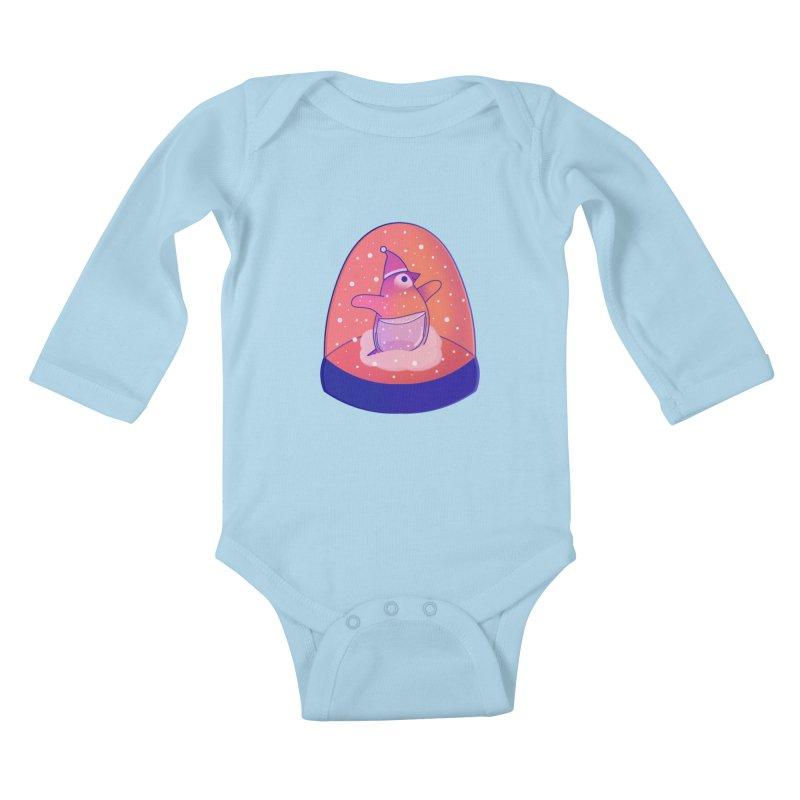 Snow Globe Kids Baby Longsleeve Bodysuit by theladyernestember's Artist Shop