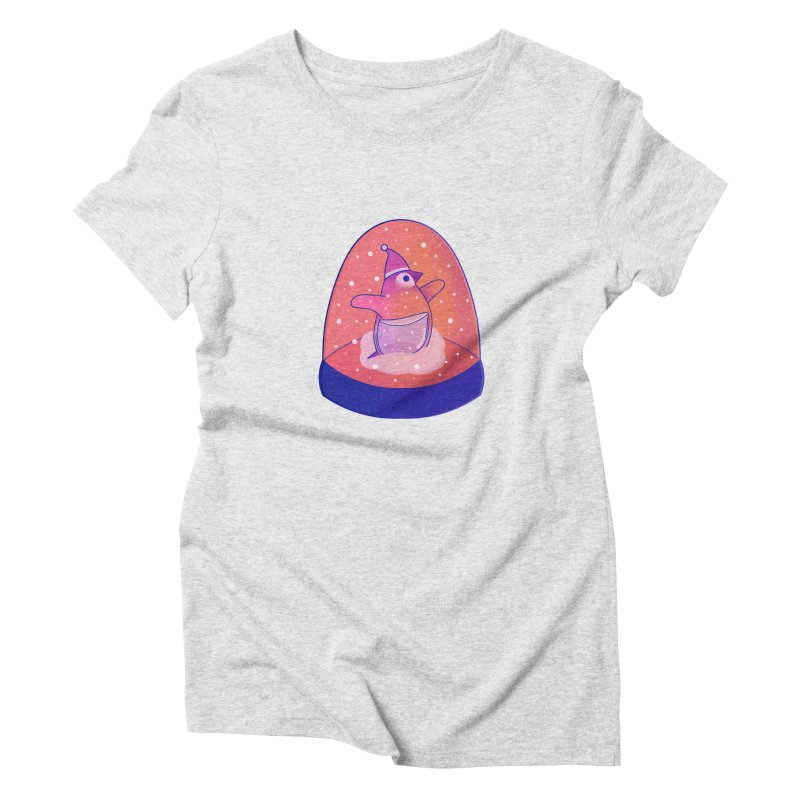 Snow Globe Women's Triblend T-Shirt by theladyernestember's Artist Shop