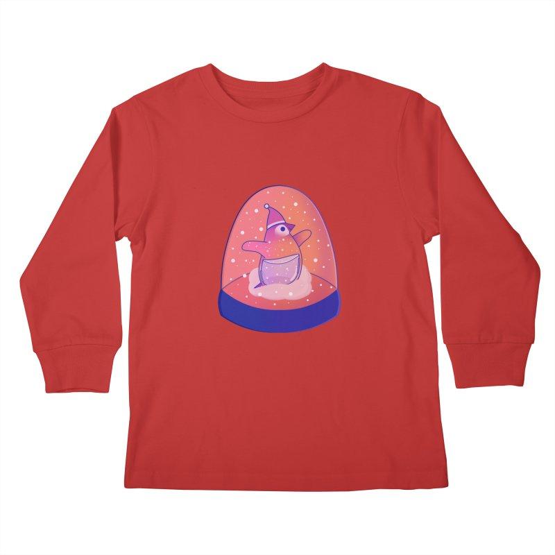 Snow Globe Kids Longsleeve T-Shirt by theladyernestember's Artist Shop