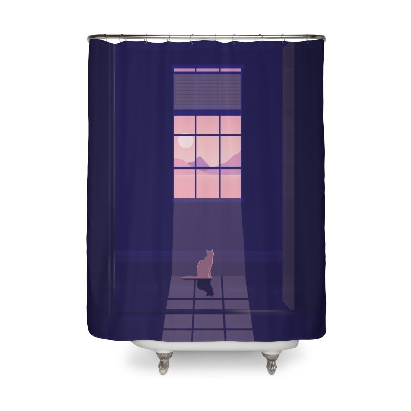 Cat Home Shower Curtain by theladyernestember's Artist Shop