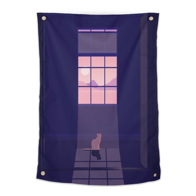 Cat Home Tapestry by theladyernestember's Artist Shop