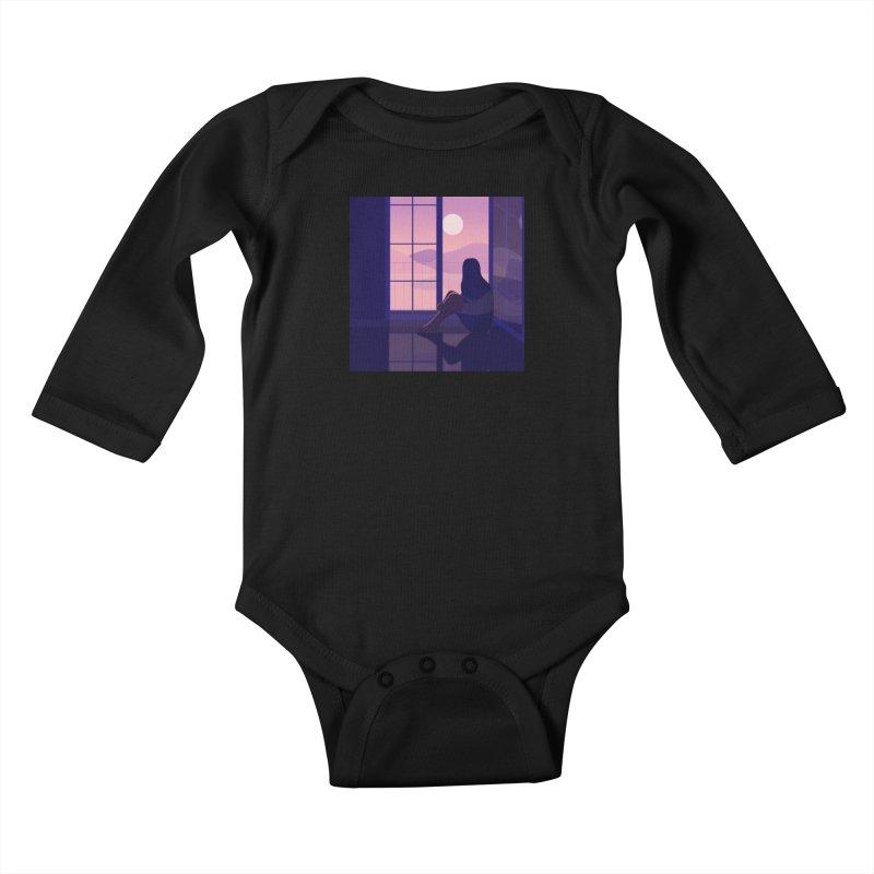 Lady Kids Baby Longsleeve Bodysuit by theladyernestember's Artist Shop