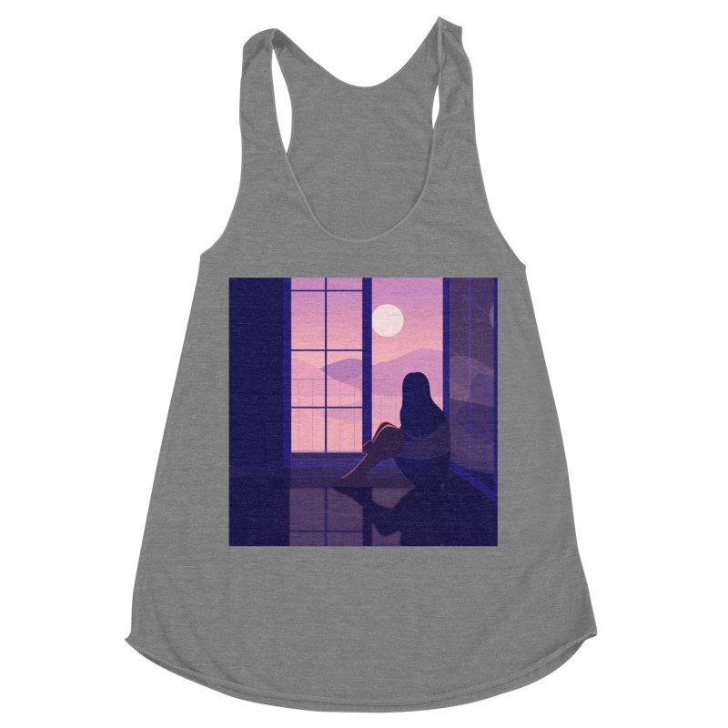 Lady Women's Racerback Triblend Tank by theladyernestember's Artist Shop