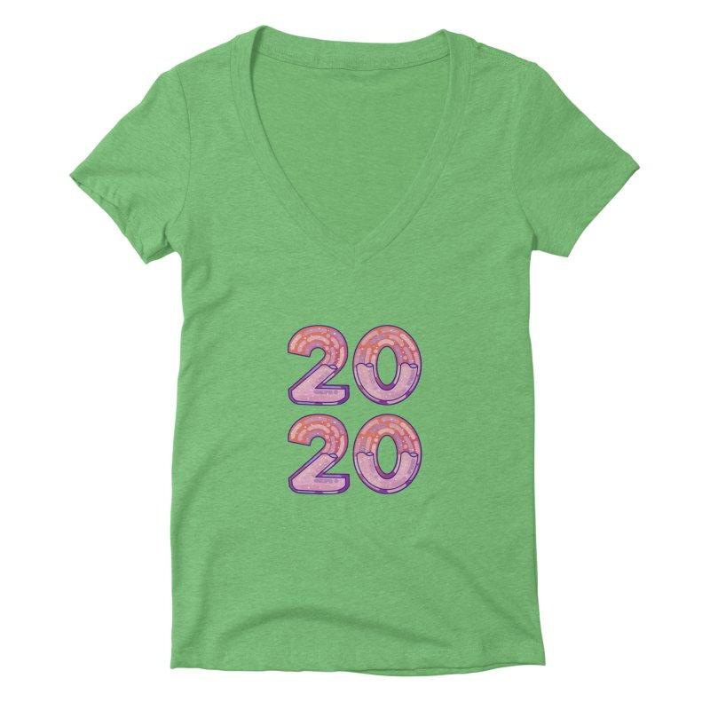 2020 Women's Deep V-Neck V-Neck by theladyernestember's Artist Shop