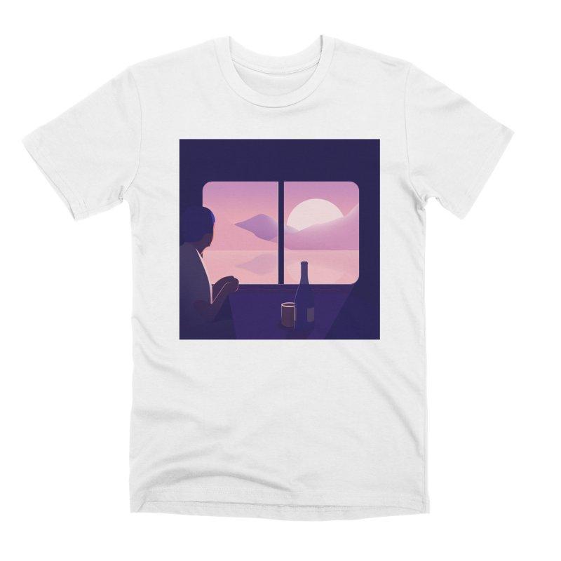 Train Men's T-Shirt by theladyernestember's Artist Shop