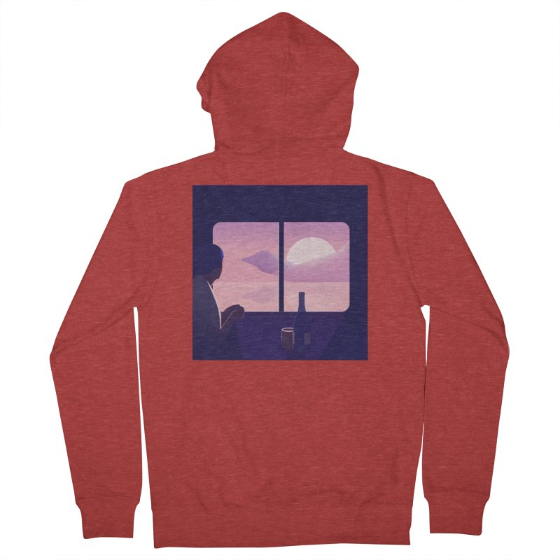 Train Women's French Terry Zip-Up Hoody by theladyernestember's Artist Shop