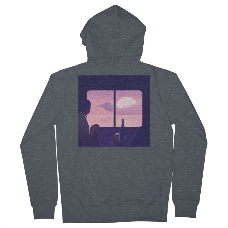 Train Men's French Terry Zip-Up Hoody by theladyernestember's Artist Shop