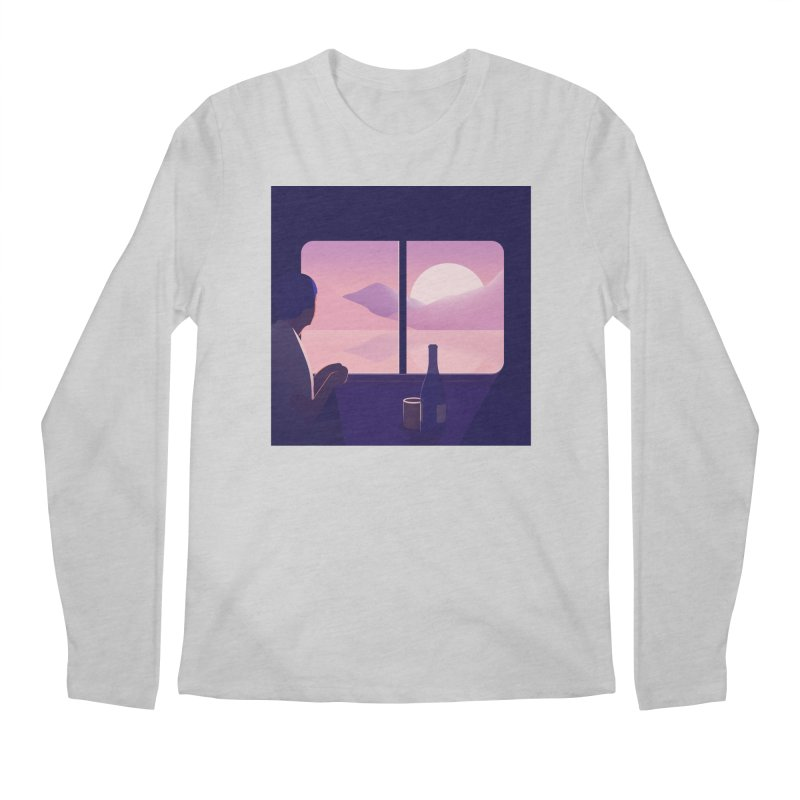 Train Men's Regular Longsleeve T-Shirt by theladyernestember's Artist Shop