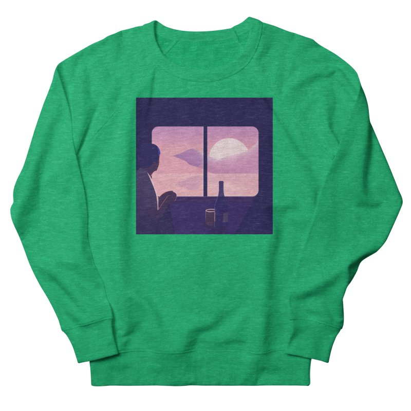 Train Men's French Terry Sweatshirt by theladyernestember's Artist Shop
