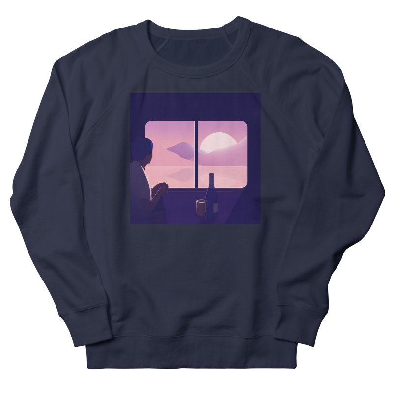 Train Men's French Terry Sweatshirt by theladyernestember's Artist Shop