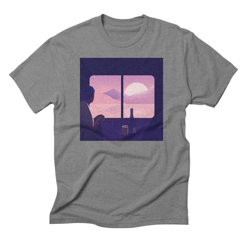 Train Men's Triblend T-Shirt by theladyernestember's Artist Shop