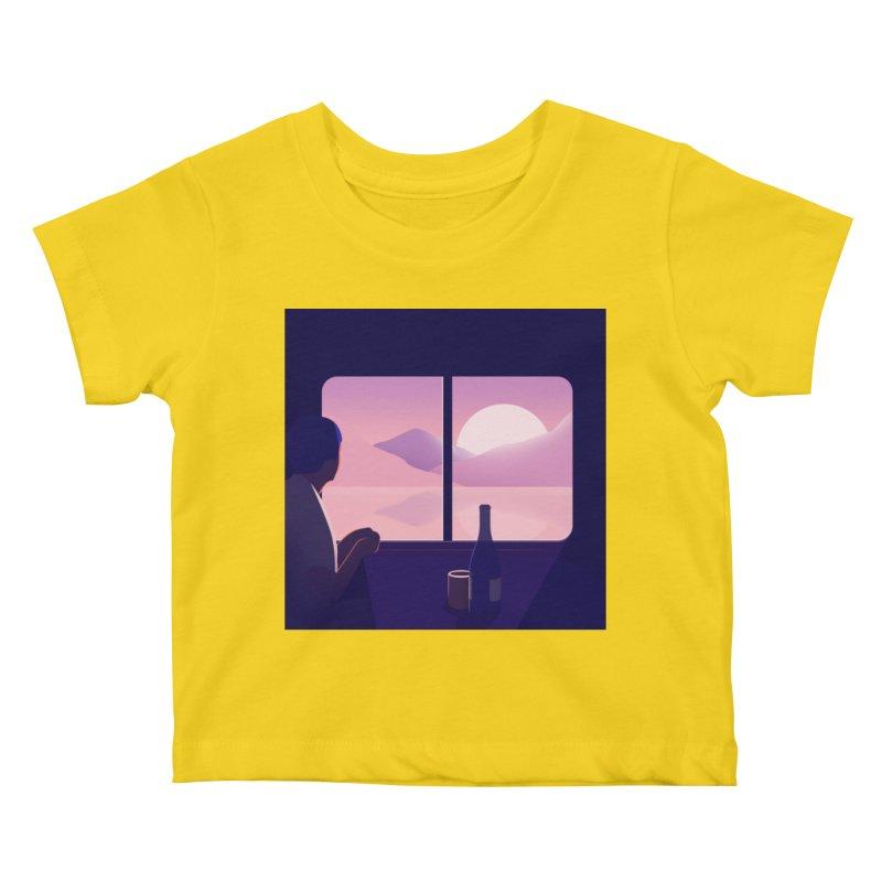 Train Kids Baby T-Shirt by theladyernestember's Artist Shop