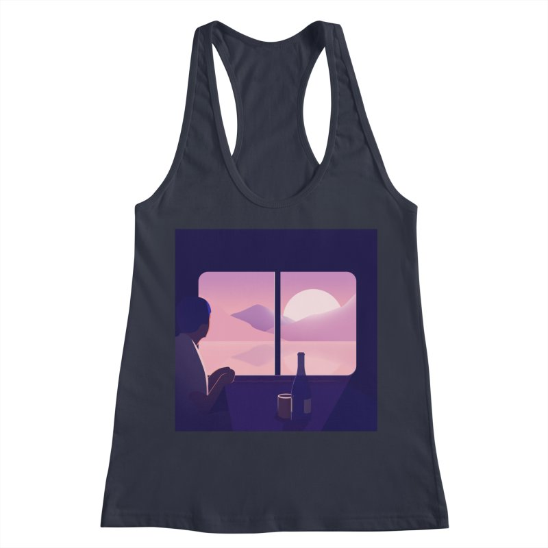 Train Women's Racerback Tank by theladyernestember's Artist Shop