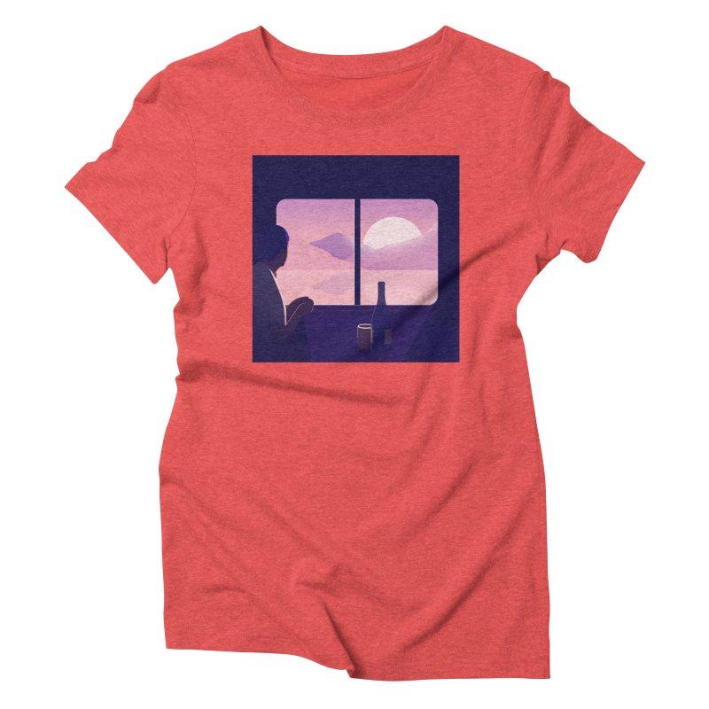 Train Women's Triblend T-Shirt by theladyernestember's Artist Shop