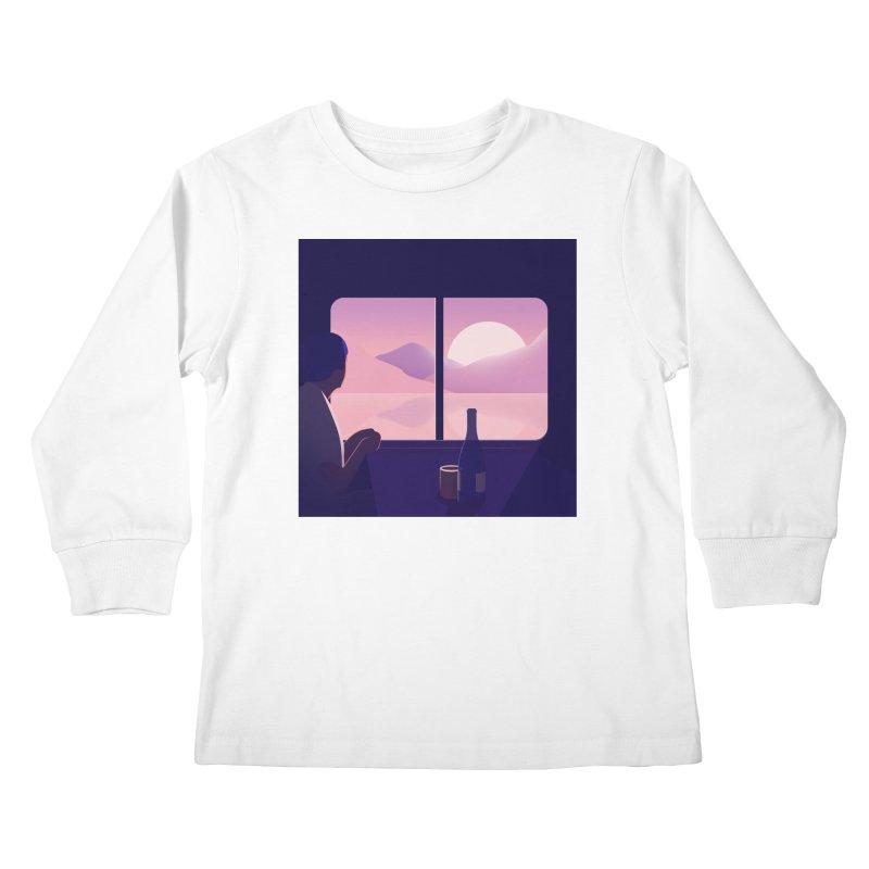 Train Kids Longsleeve T-Shirt by theladyernestember's Artist Shop