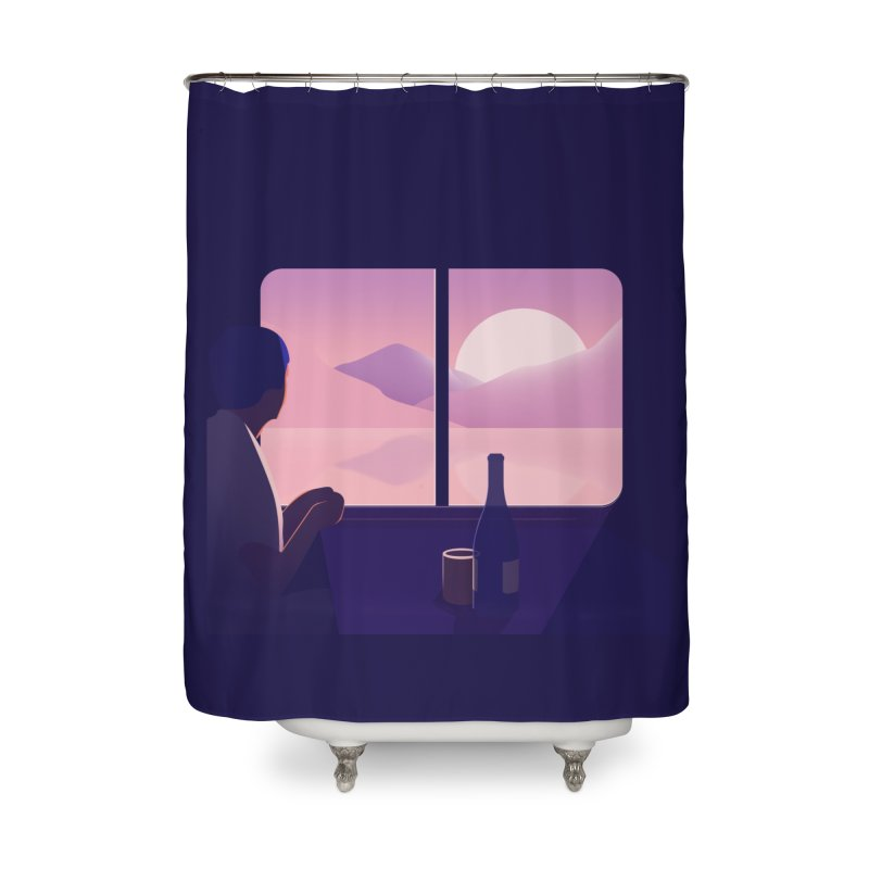 Train Home Shower Curtain by theladyernestember's Artist Shop