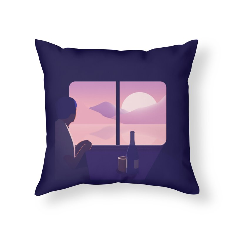 Train Home Throw Pillow by theladyernestember's Artist Shop