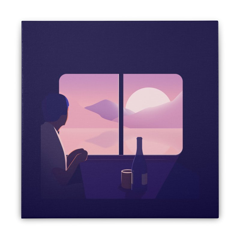 Train Home Stretched Canvas by theladyernestember's Artist Shop