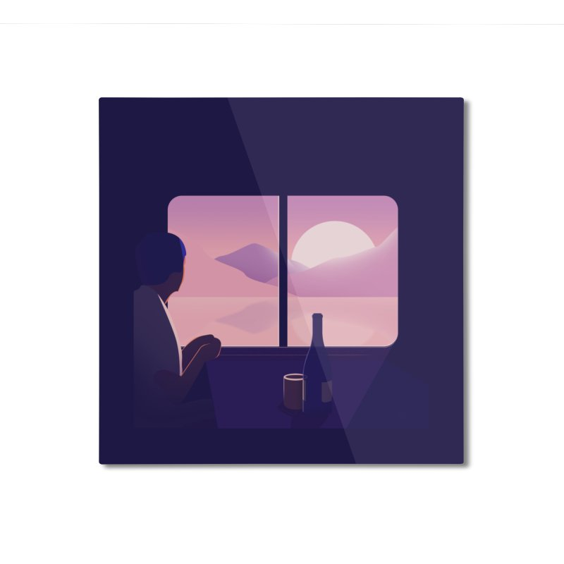 Train Home Mounted Aluminum Print by theladyernestember's Artist Shop