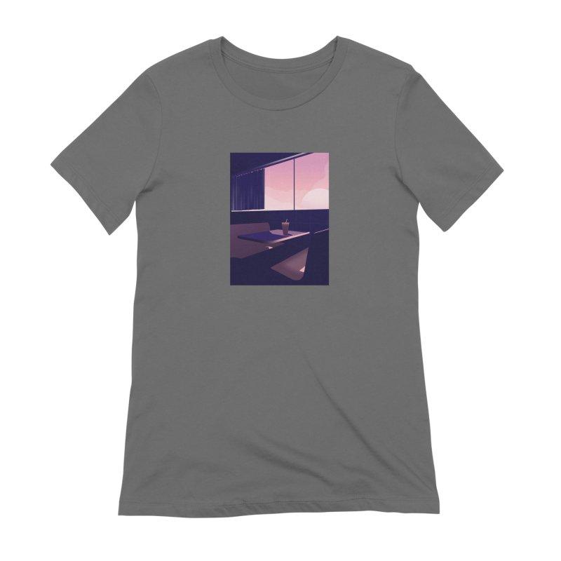 Empty Cafe Women's T-Shirt by theladyernestember's Artist Shop